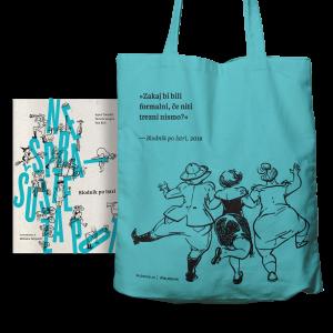 Knjiga in vrečka za blodenje v turkizni barvi